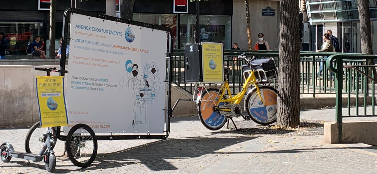 vélo publicitaire paris